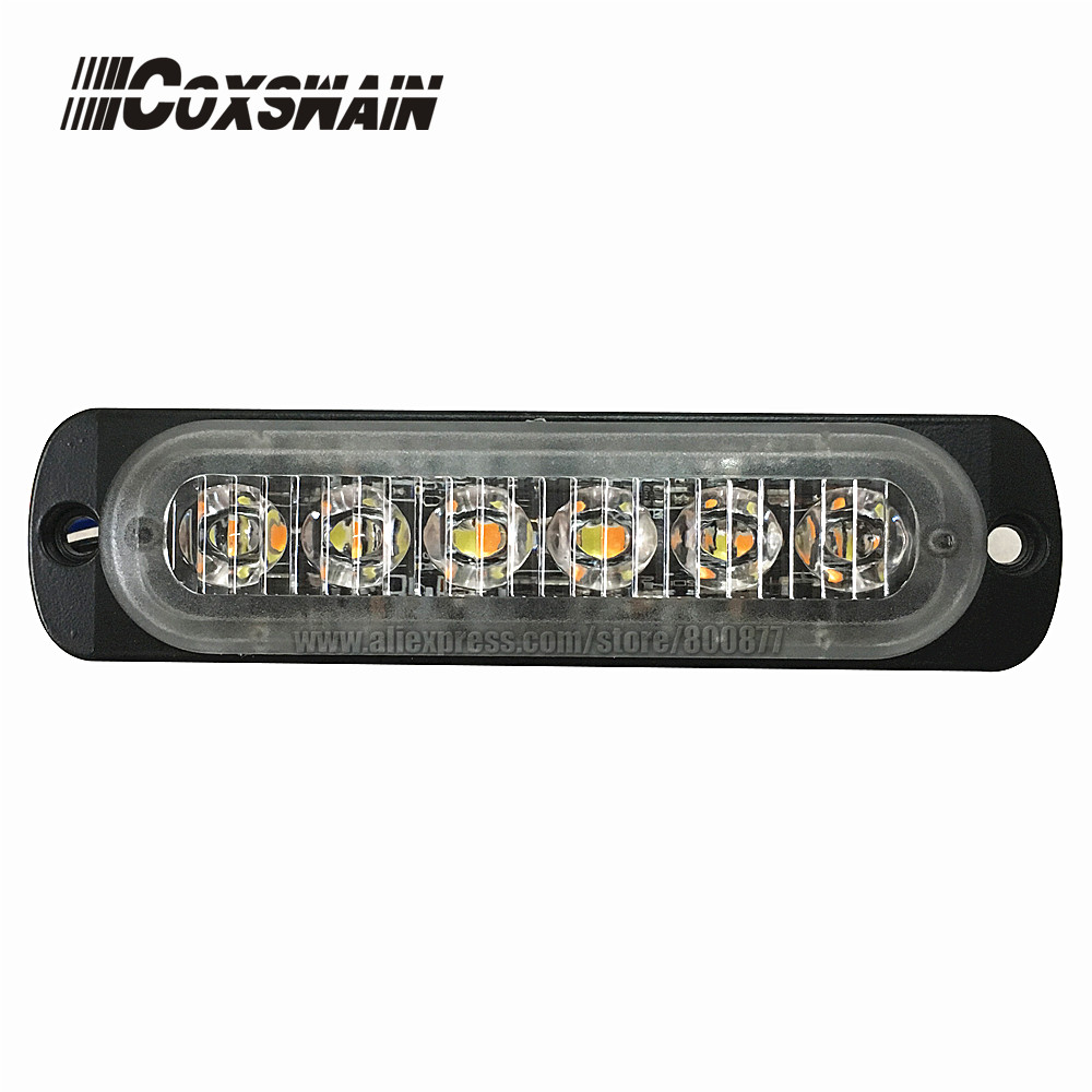 Coxswain Dual color Car Truck LED Grille Traffic Light Head 12 LED Surface Mount Strobe Emergency Safety Warning Light 12-24V