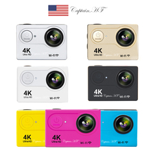 US Captain 4K WiFi Sports Action Camera Ultra HD Waterproof DV Camcorder 12MP 170 Degree Wide Angle 2 inch LCD Screen цена и фото