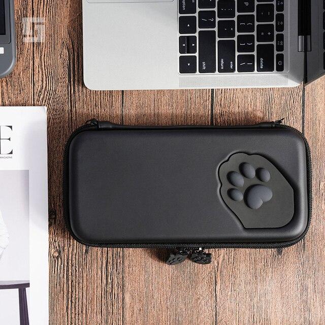 Nintendo anahtarı durumda kedi pençe CP saklama çantası NS silikon sert kabuk kapak kutusu Nintendo anahtarı için Lite oyun konsolu aksesuarları