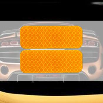Car Trunk Tail Wheel Eyebrow OPEN Car Door Stickers Reflective Strip Safety Warning Mark Anti-collision Stickers image