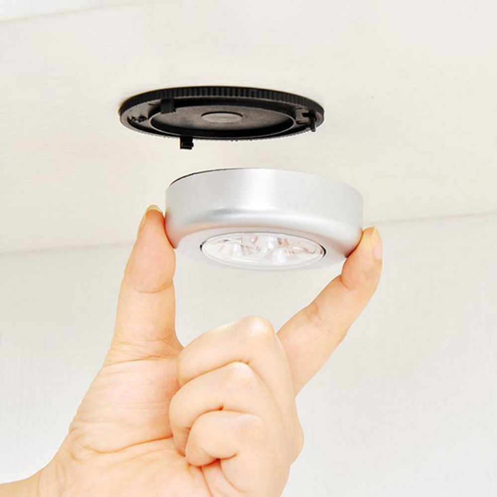 3-LED Kabine Altında Mini Dokunmatik Kontrol Led Lamba Tavan Lambası Klozet Dolapları LED gece ışığı Enerji Tasarrufu araba farı