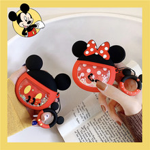 3D Cartoon Cute Mickey Minnie Soft Quicksand Silicone Earphone Case For Airpods 1/2 Headphone Cases for Air pod Protection