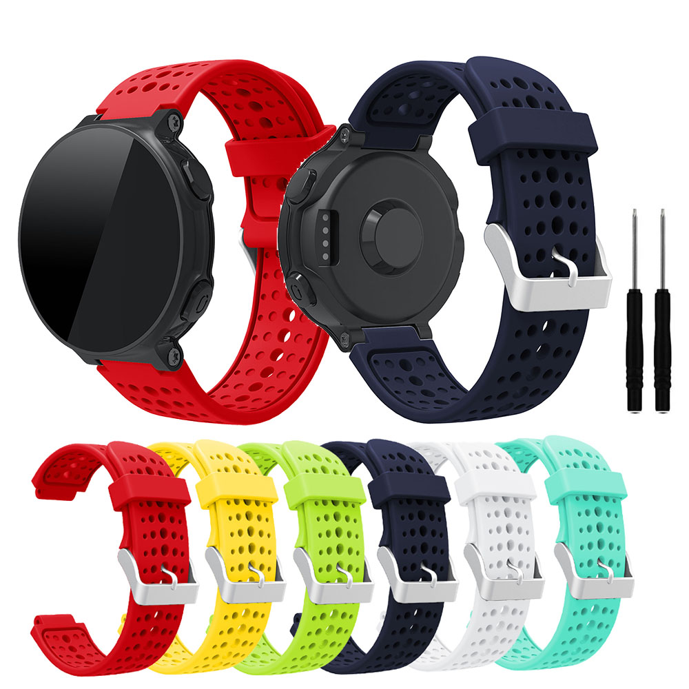 Silicone Bracelet For Garmin Forerunner 235 WatchBand For Garmin Forerunner 220/230/235/620/630/735XT/235 Lite Bands Accessories