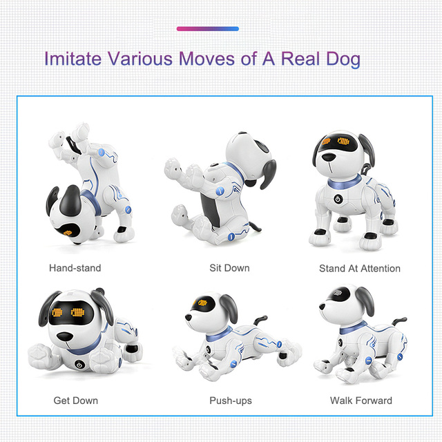 K16A Electronic Pets RC Animal Programable Robot Dog Voice Remote Control Toy Puppy Music Song for Kids Birthday Gift 4