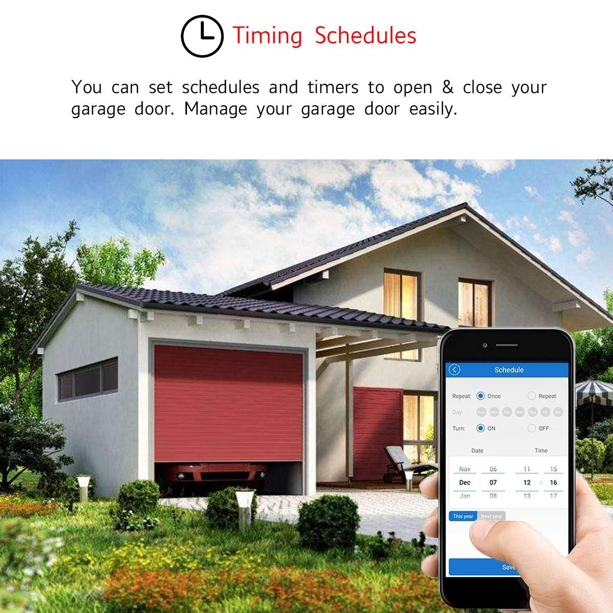 H72a4c069a68d4e13ae0bbba459864f215 1Set WiFi Switch Smart Home Garage Door Opener Controller For eWeLink APP Phone Voice Control for Amazon Alexa for Google Home