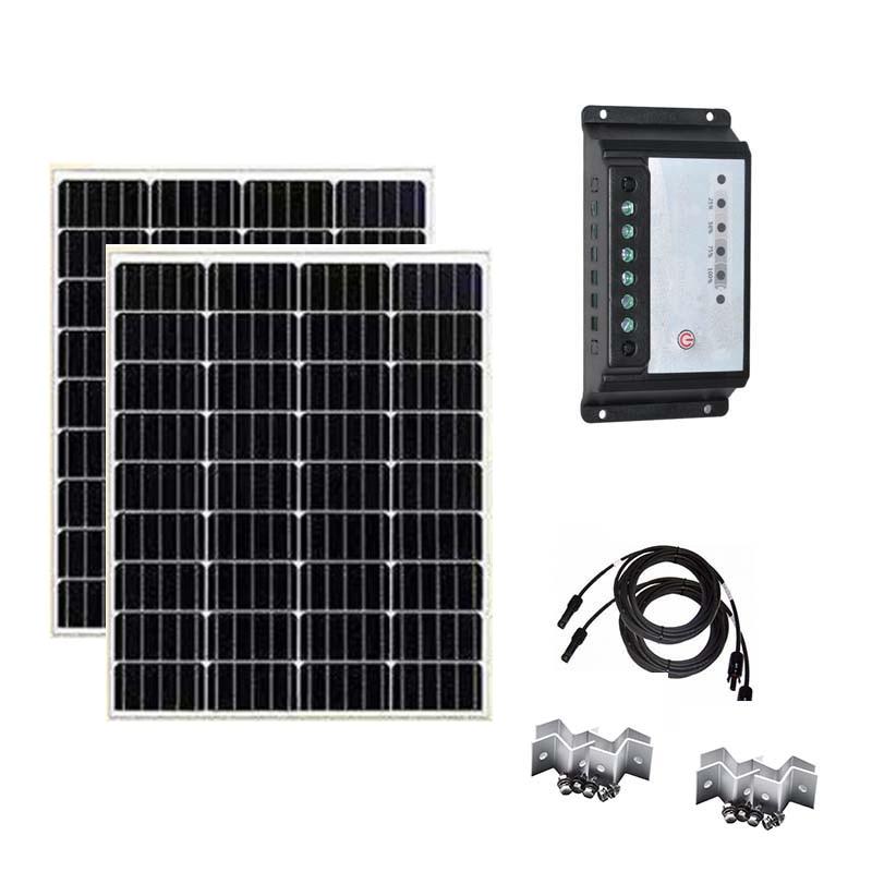 Набор солнечных панелей 100 Вт 200 300 12 в солнечное зарядное