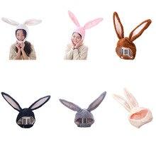 Рождественские вечерние шапки для косплея для девочек с длинными заячьими ушками, шапка для косплея, шапка из плюша, шапка с заячьими ушками, головной убор с кроликом