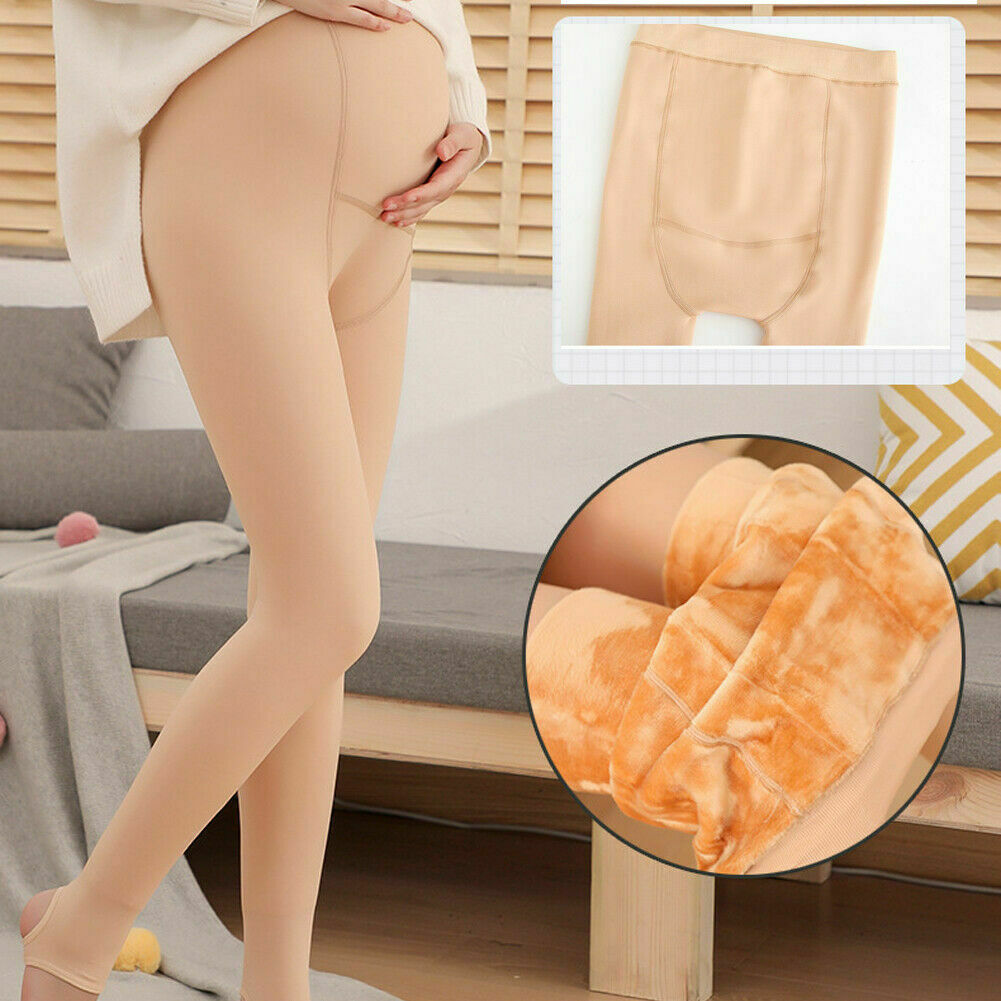 Fashion Pregnant Women Winter Thicken Tights Maternity Clothings Leggings Warm Footed Pantyhose Stockings New