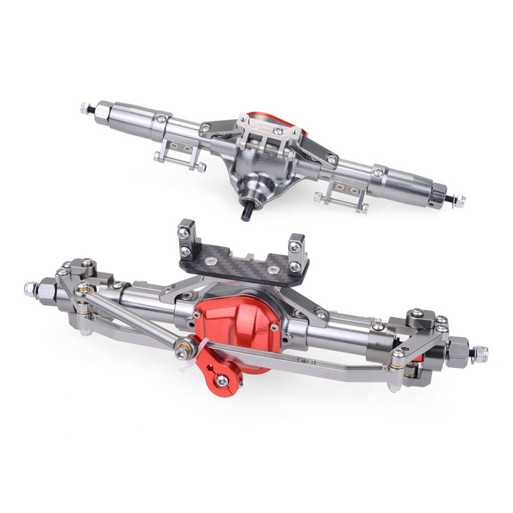 Metal Front And Rear Axle Alloy Straight Axle For 1/10 RC Crawler Car Axial SCX10 90046 90047 Upgrade Parts