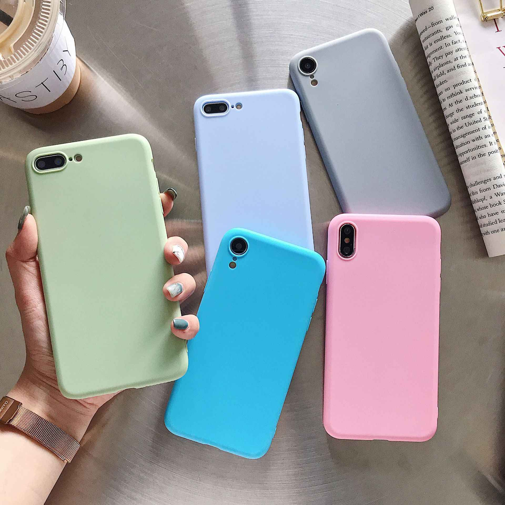 Ultra Thin Matte Candy Case for LG Q6 Q6A Q7 Q8 V10 V20 V30 V40 V50 G3 G4 G5 G6 G7 G8 ThinQ Matte Clear TPU Cover