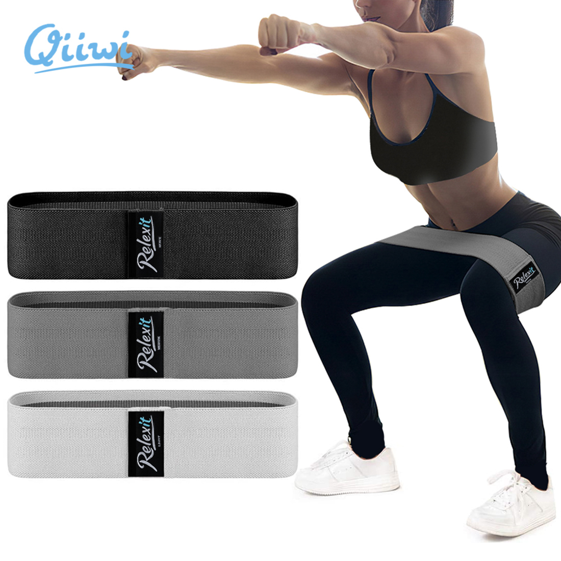 Resistance Bands Sets Fitness Elastic Bands Hip Loop butt Leg Exercise Gym Yoga Stretching  Home Workout Equipment Bodybuilding