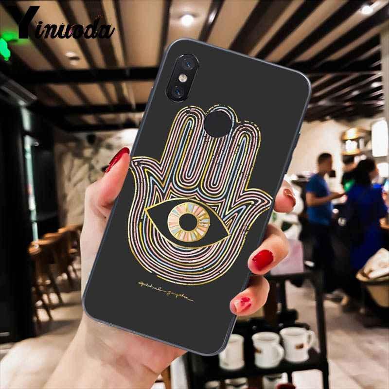 Yinuoda Hamsa Tangan dari Fatima Phone Case Cover untuk Xiao Mi Redm4X 6A 5A 7A Merah MI 5 5Plus note8 8Pro 7 Mi A1 A2Lite