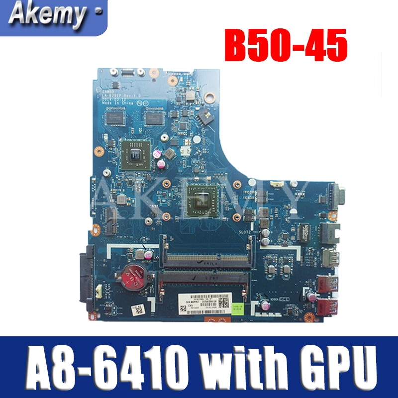 New Original Laptop Lenovo B50-45 Motherboard Mainboard W8P AMD A8-6410 5B20G37213 2G ZAWBB LA-B291P DDR3