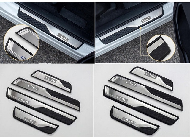 Car Accessories External Door Sill Protector Welcome Pedals Scuff Plate Guards Covers Trim 4Pcs For Honda CRV CR-V 2017 2018 2