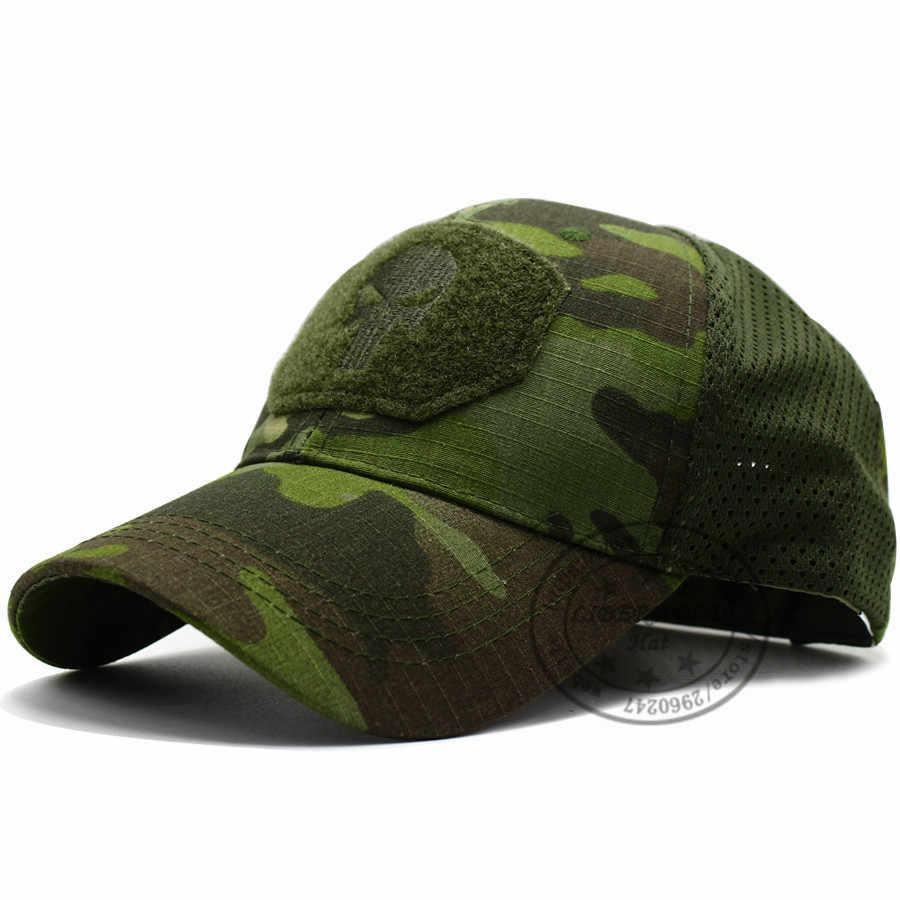 LIBERWOOD Multicam casquette d'opérateur paquets crâne maille ajusté casquette tactique CP Force spéciale Sniper SWAT chapeau place patch
