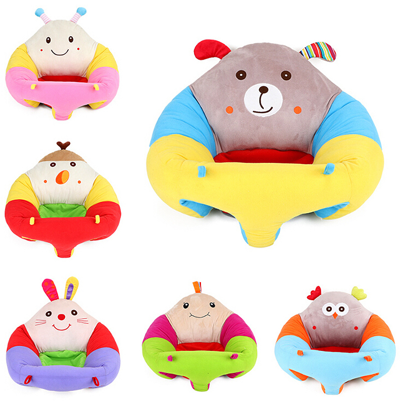 Newborn Travel Baby Seats Sofa Support Seat Kids Plush Support Chair Learning To Sit Soft Plush Toys Seat