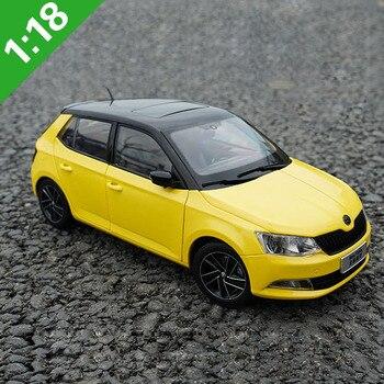 1:18 Skoda Fabia 2012 2016 Alloy Diecast Car Model Toys Metal Model Vehicles Original Box 1