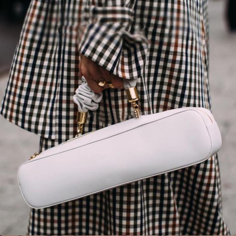 Retro Fashion Rectangle Women Handbag Shoulder Messenger Bag Pu Female Pleated Handle Bag Wrist Bag Dinner Clutch Lady Hand Bag