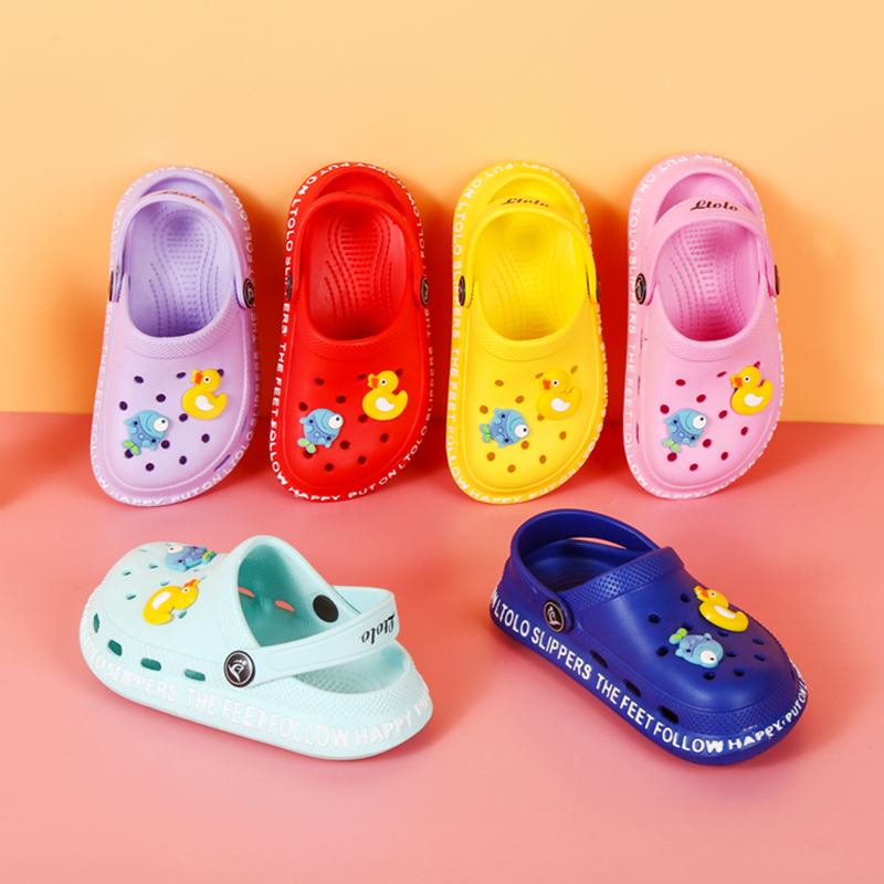 Ltolo Children Girl Boy  Mules Clogs Kids Summer Crock candy Garden Beach Slippers Cave Hole Baby Shoes For Girls Boys EUR23-34