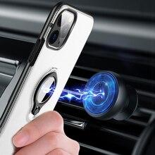 Iconflang Für iPhone 11 Pro Max Fall Auto Halter Stehen Magnetische Halterung Hard PC Abdeckung Fall Für iPhone 11 Pro funda Coque Capa