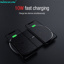 NILLKIN rapide double 2 en 1 chargeur sans fil pour Xiaomi 9 Mix 2S Qi Pad pour Samsung Galaxy Note 10 10 + S10 pour iPhone 11 XS Max X