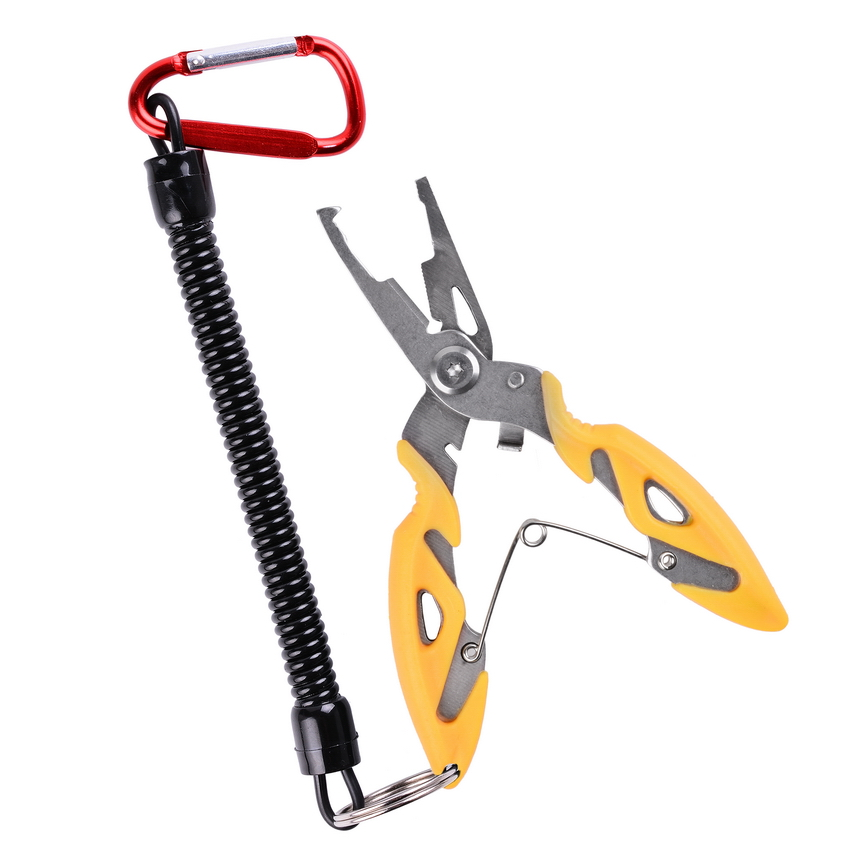 Multi Functional Fishing Pliers Scissors Line Cutter Hook Remover Fishing Clamp Accessories Tools With Lanyards Spring Rope 4