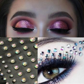 Fashion Women Tattoo Diamond Makeup Eyeliner Eyeshadow Face Sticker Jewel Eyes Makeup Crystal Eyes Sticker 4