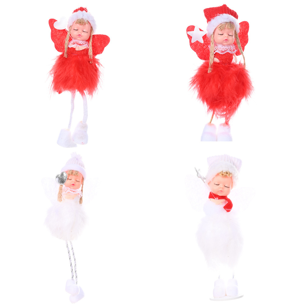 Baby Mini Angel Feather Wing Christmas Kids Party Clothes Hanging Drop Decor