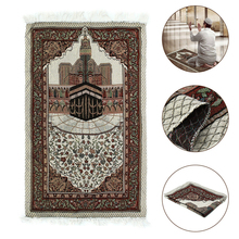 110x65cm Blanket Embroidery Prayer Rug Carpet Home Islamic Muslim Tassel Tapestry Bedroom Tablecloth Lightweight Gift Portable