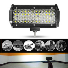 7inch 6063 Aircraft Aluminum Extruded ShellLED Light Bar Spot Work Driving Lamp Fog Off-road 4WD Truck ATV SUV Boat