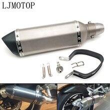 אוניברסלי שונה עמעם פליטת אופנוע עם DB רוצח עבור Kawasaki NINJA 250R ZX636R NINJA 400R GTR1400 ZX14R Z1000SX