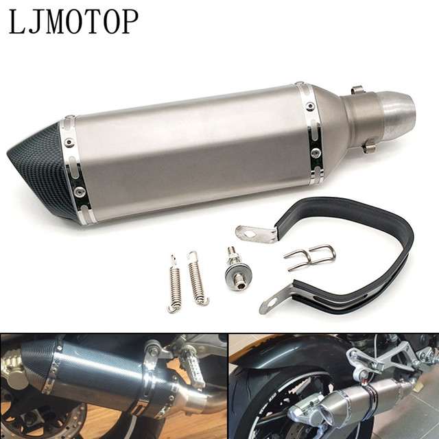 Universal Modified Motorcycle Exhaust Muffler with DB Killer For Kawasaki NINJA 250R ZX636R NINJA 400R GTR1400 ZX14R Z1000SX