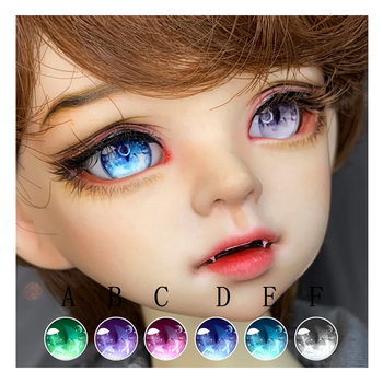 BJD eyes 10mm-14mm-18mm-24mm cartoon for 1/8 1/6 1/4 1/3 DD doll accessories with metal effect