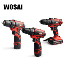 WOSAI Electric Screwdriver Cordless Drill Impact Drill Power Driver 20V Max DC Lithium-Ion Battery 2-Speed 3/8