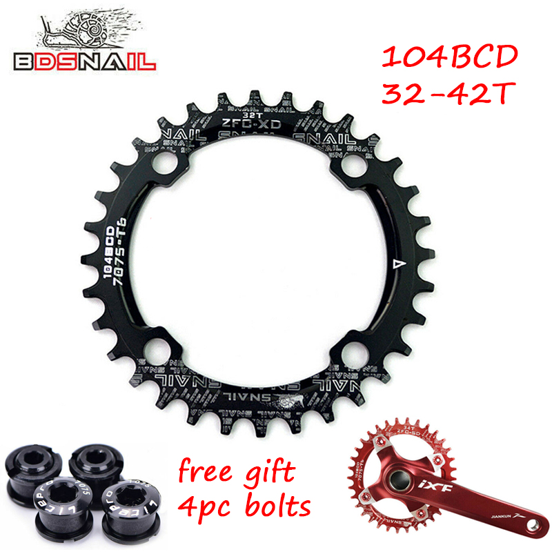 US 30T Single Round Narrow Wide Chainring 104bcd MTB Road Bike Chainwheel bolts