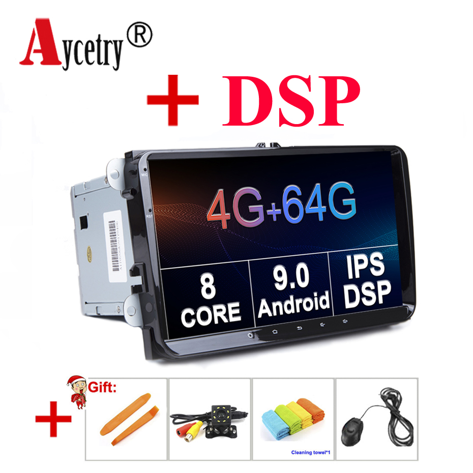 DSP IPS 4G 64G For Volkswagen/VW/Passat CC B6 B7/GOLF 5 6/POLO/Skoda/Octavia/Seat/Leon 2 din android 9 car Radio GPS multimedia-in Car Multimedia Player from Automobiles & Motorcycles    1