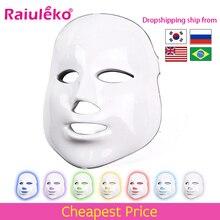 7 色 led フェイシャルマスク美容スキンケア若返りしわにきび除去顔美容セラピー美白締め楽器