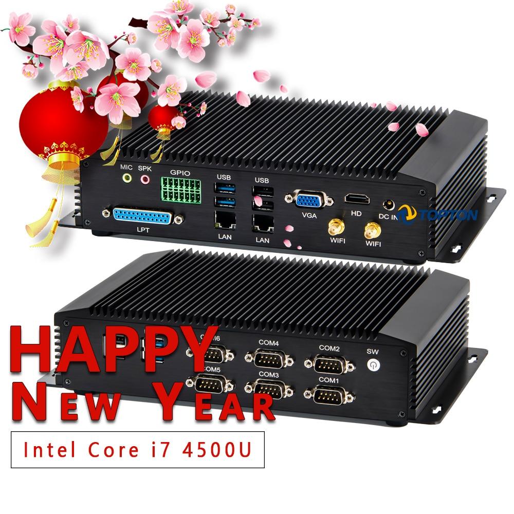 2019 Industrial Fanless Mini PC Intel I7 I5 J1900 2*Intel Lans 6/2 COM USB Micro Computer Linux 3G 4G Wifi VGA HDMI G Serious