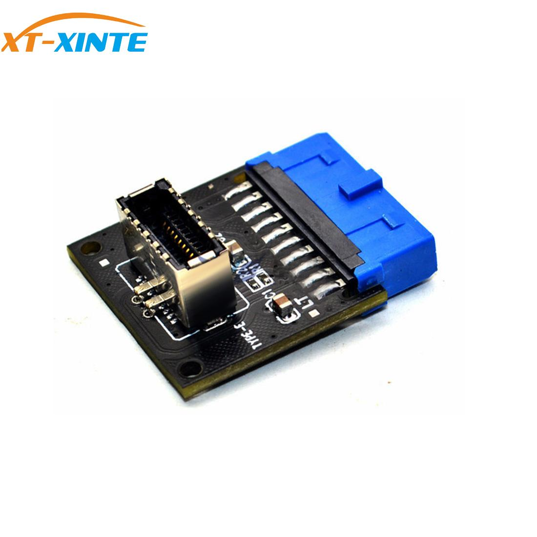 Type C USB3.1 Front Panel Socket USB 3.0 19 Pin To TYPE-E 20Pin Header Extension Adapter For ASUS Motherboard