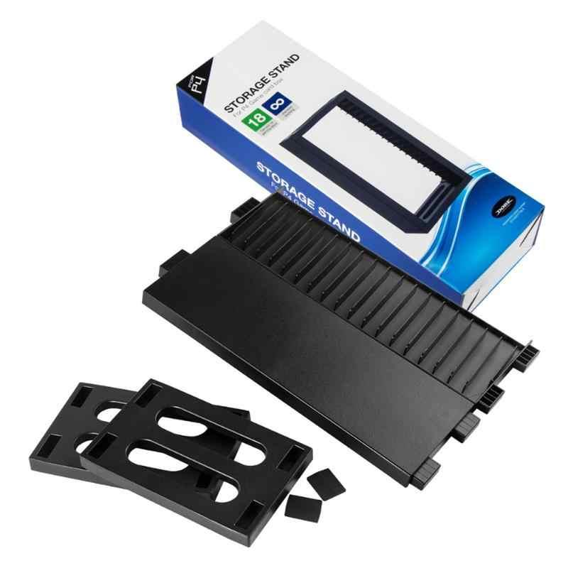 רב תכליתי דיסק אחסון מגדל משחקים דיסקים מחזיק מעמד אנכי 18 משחק דיסקים ארגונית עבור PS4 פרו Slim עבור Xbox אחד