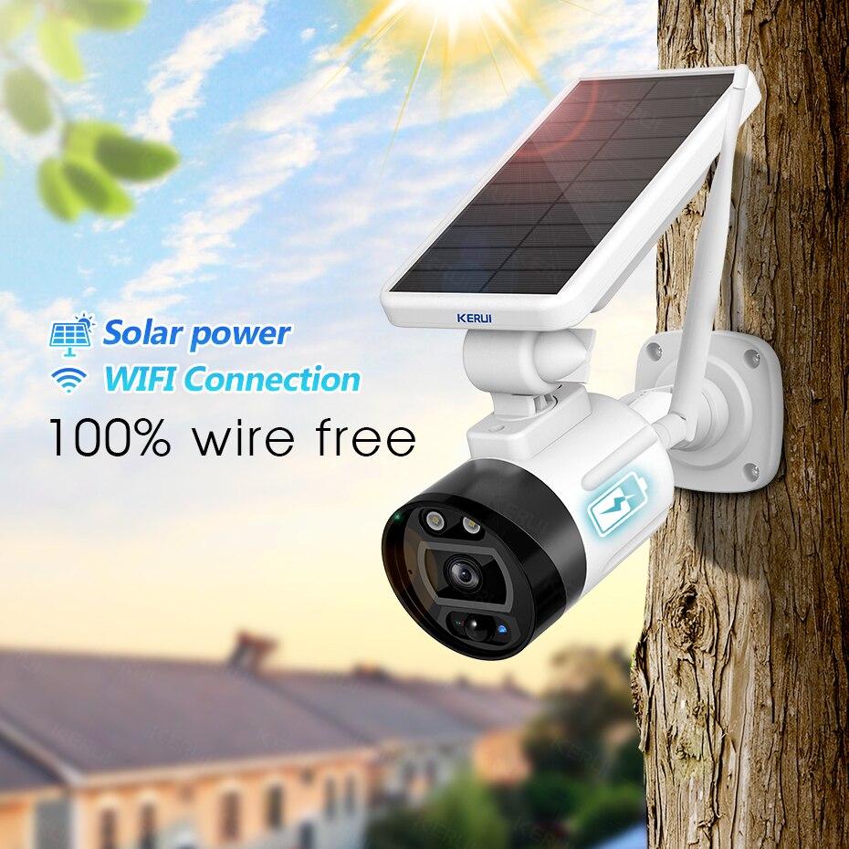 KERUI 1080P 2MP Solar Wireless Battery Camera WIFI Outdoor Security IP Camera Alexa Cloud IP66 Waterproof CCTV Surveillance|Surveillance Cameras|   - AliExpress