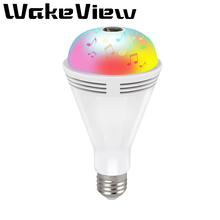 WakeView LED Light 960P Wireless Panoramic Home Security WiFi CCTV Fisheye Bulb Lamp IP Camera 360 Degree Home Security Camera