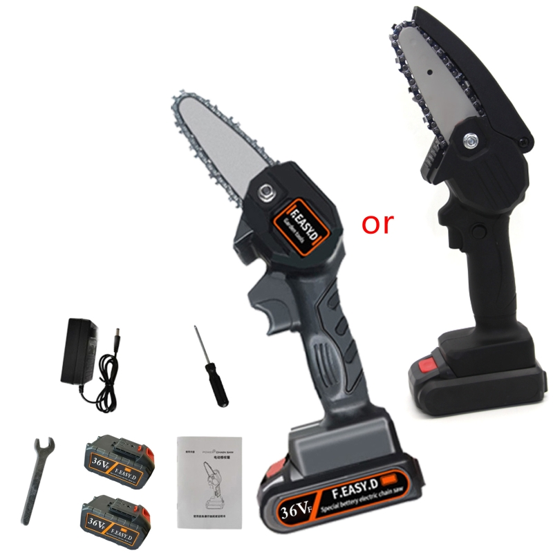 36V Portable Rechargeable Electric Pruning Saw Mini One-handed Lithium Battery Woodworking Electric Saw For Garden