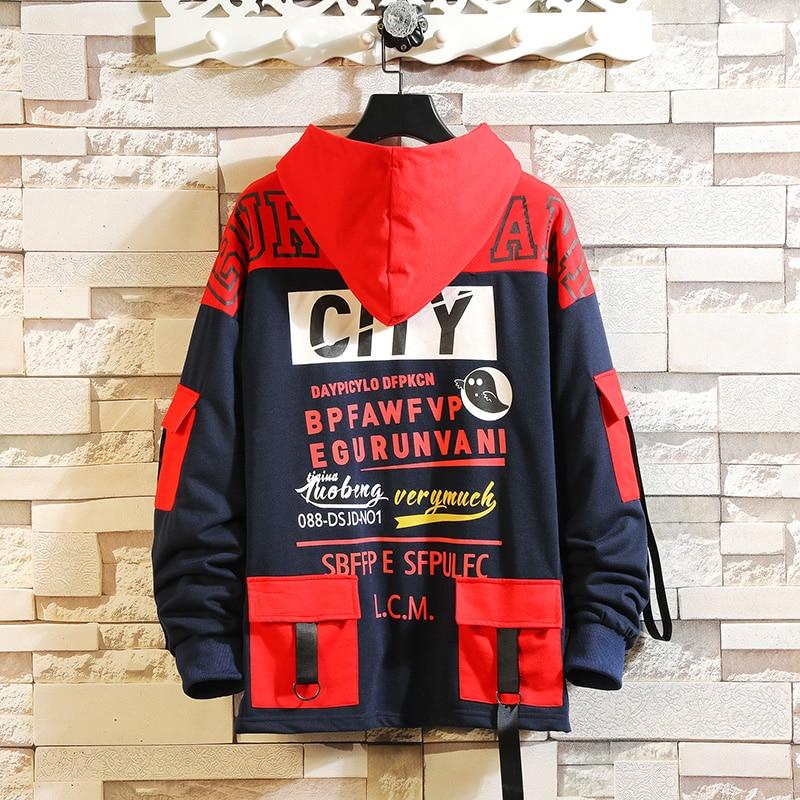 Fashion Men Hip Hop Skateboard Harajuku Long Sleeve Pullover Oversized Black Hoodies Sweatshirt 2020 Spring AUTUMN Clothes