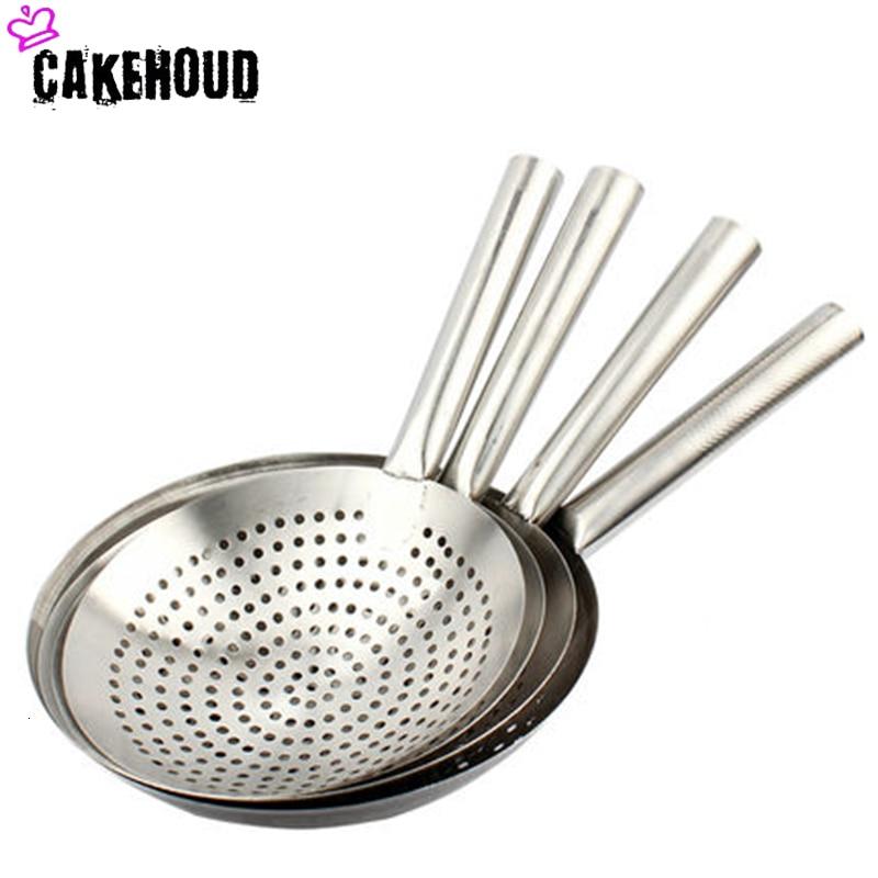 Stainless Steel Long Handle Colander Kitchen Filter With Handle Kitchen Oil Flour Sieve Filter Large Skimmer
