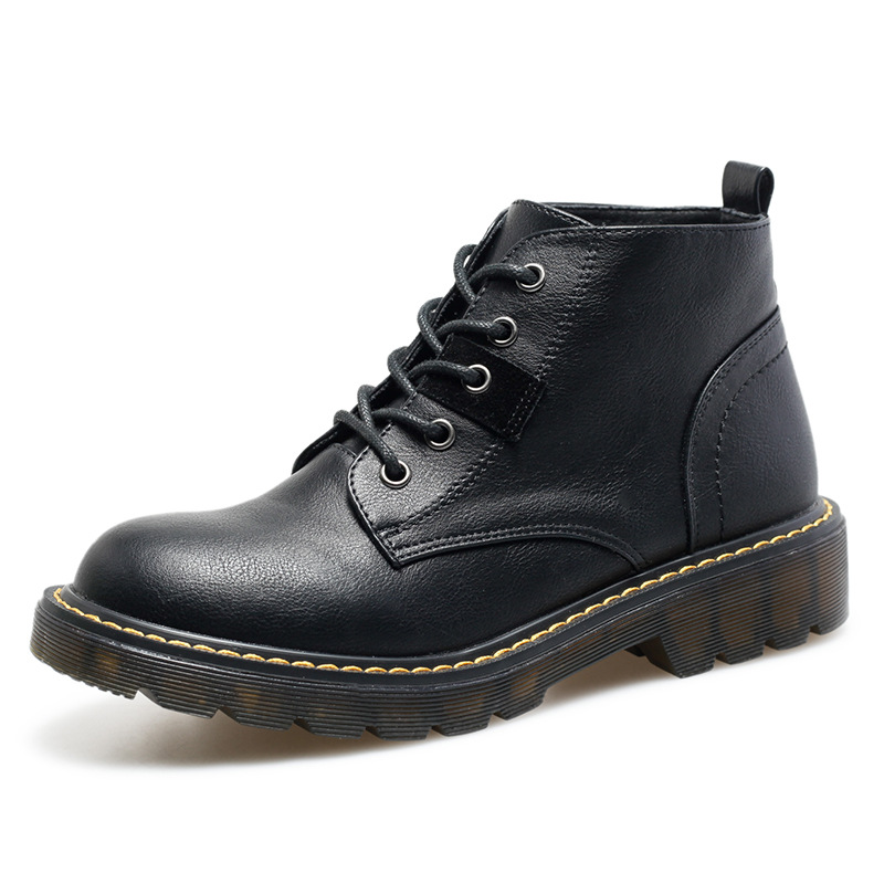 Cheap Black Martin Boots Women British Style 2020 New Autumn Winter Short Boots Plush Lined Ankle Boots Luxury Shoes Women Designers