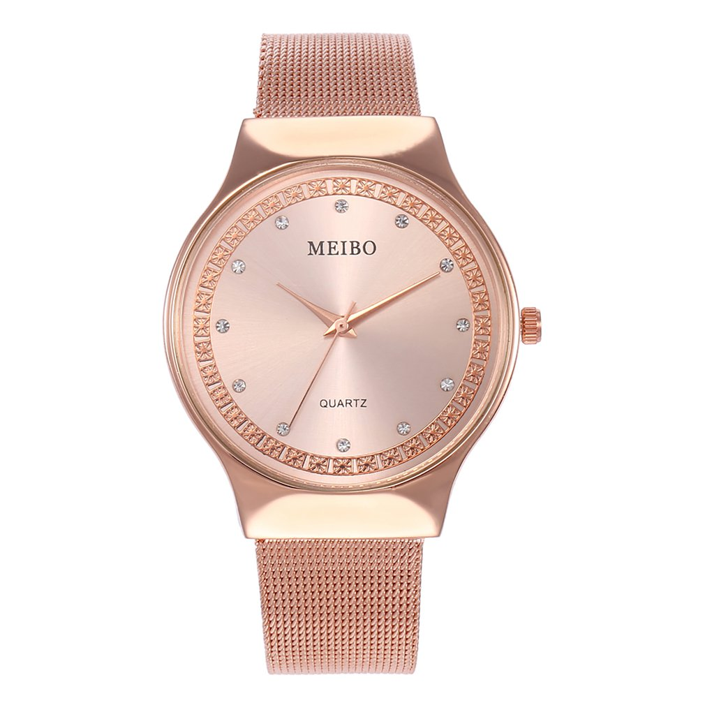 Classic Colorful Round Dial Stainless Steel Strap Quartz Wrist Watch For Women Girls Valentine Christmas Couples GIFTS 2018 New