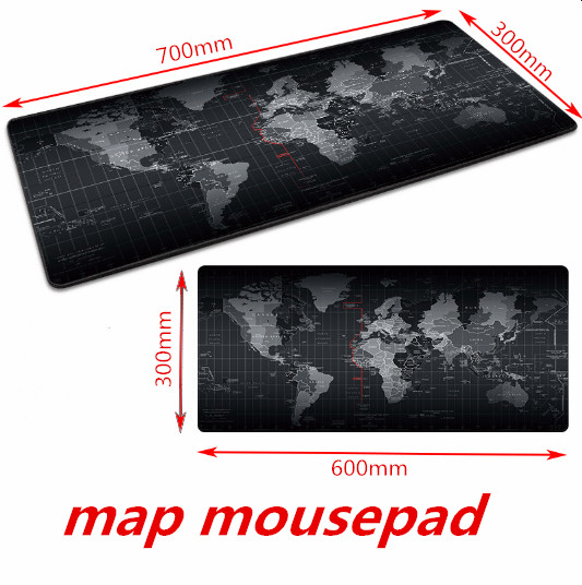 <font><b>Gaming</b></font> <font><b>Mouse</b></font> Pad Large <font><b>Mouse</b></font> Pad Gamer Big <font><b>Mouse</b></font> Mat Computer <font><b>Mousepad</b></font> Rubber World Map Mause Pad Game <font><b>Keyboard</b></font> Desk Mat image
