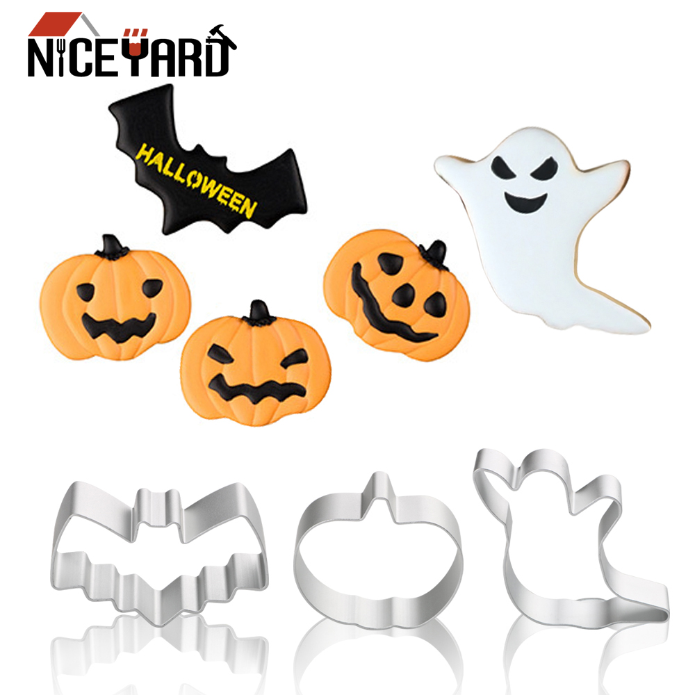 Cookie Tools Ghost Bat PumpkiNICEYARD Halloween Biscuit Mold Gingerbread Cookie Cutter Cake Decorating Tool Kitchen Tools