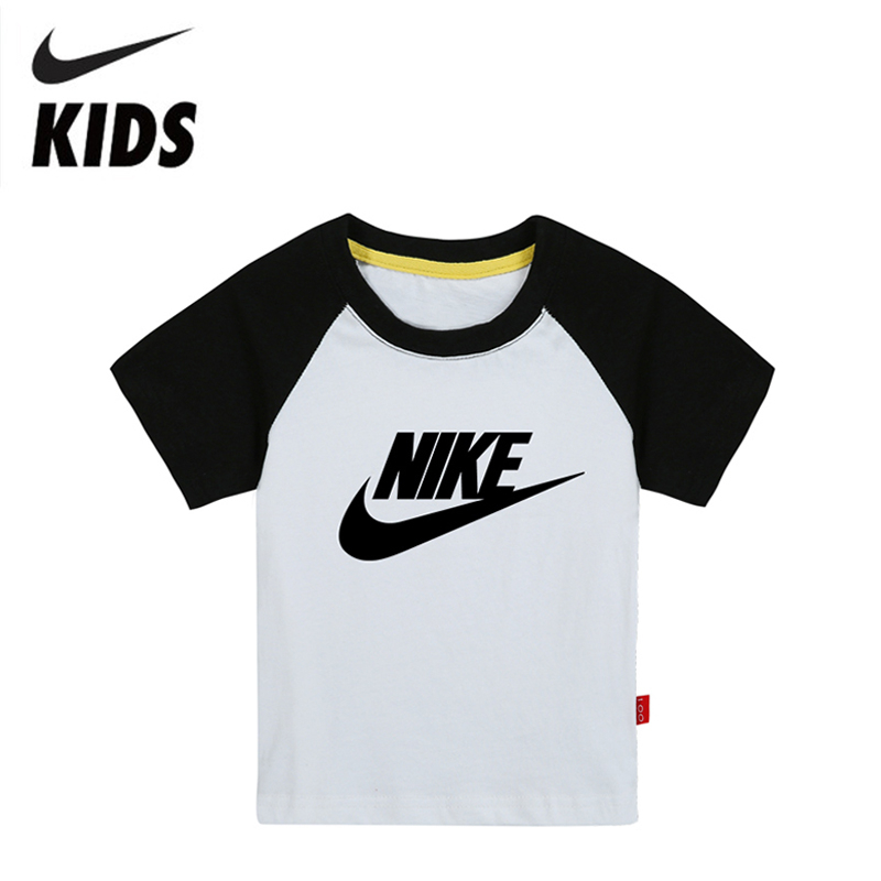 Nike Short Sleeve Children T-Shirt Cotton Boys Shirt Casual Kids Clothing For Kids 2Y-10Y